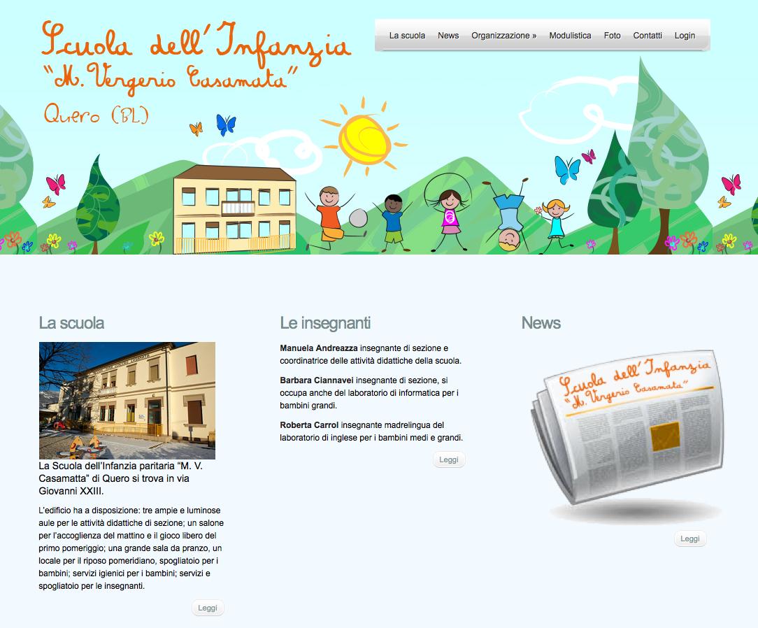 Il sito della scuola dell'Infanzia di Quero (BL)